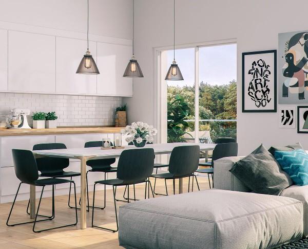 Скандинавский стиль в интерьере кухни: все оттенки белого (70 фото)