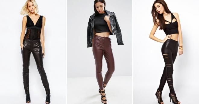 Кожаные штаны – 54 фото актуальных моделей для городских модниц