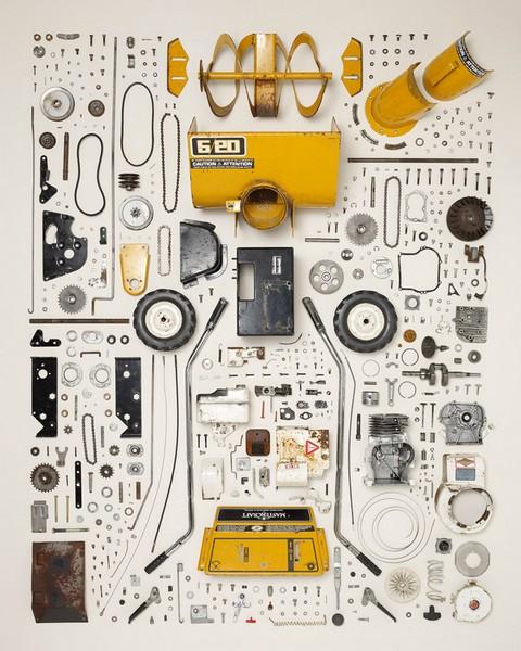 Комбайн, проект Things Come Apart от Тодда Маклеллана (Todd McLellan)