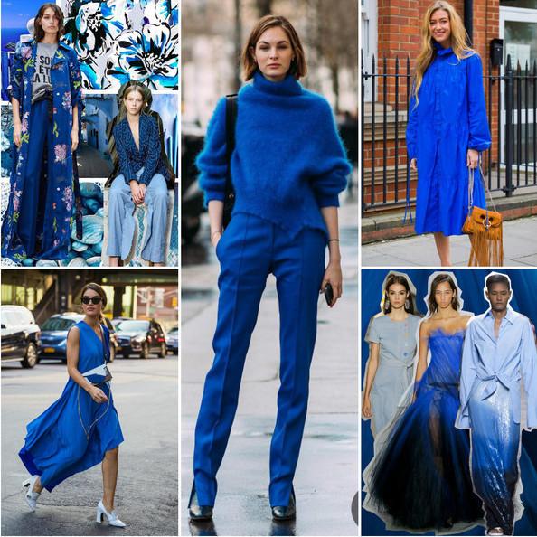 Цвет настроения синий – лучшие наряды в оттенках синего