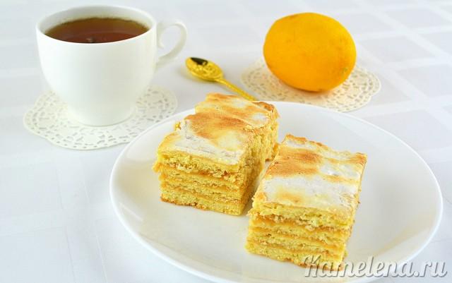 Песочный лимонный пирог — 18 шаг