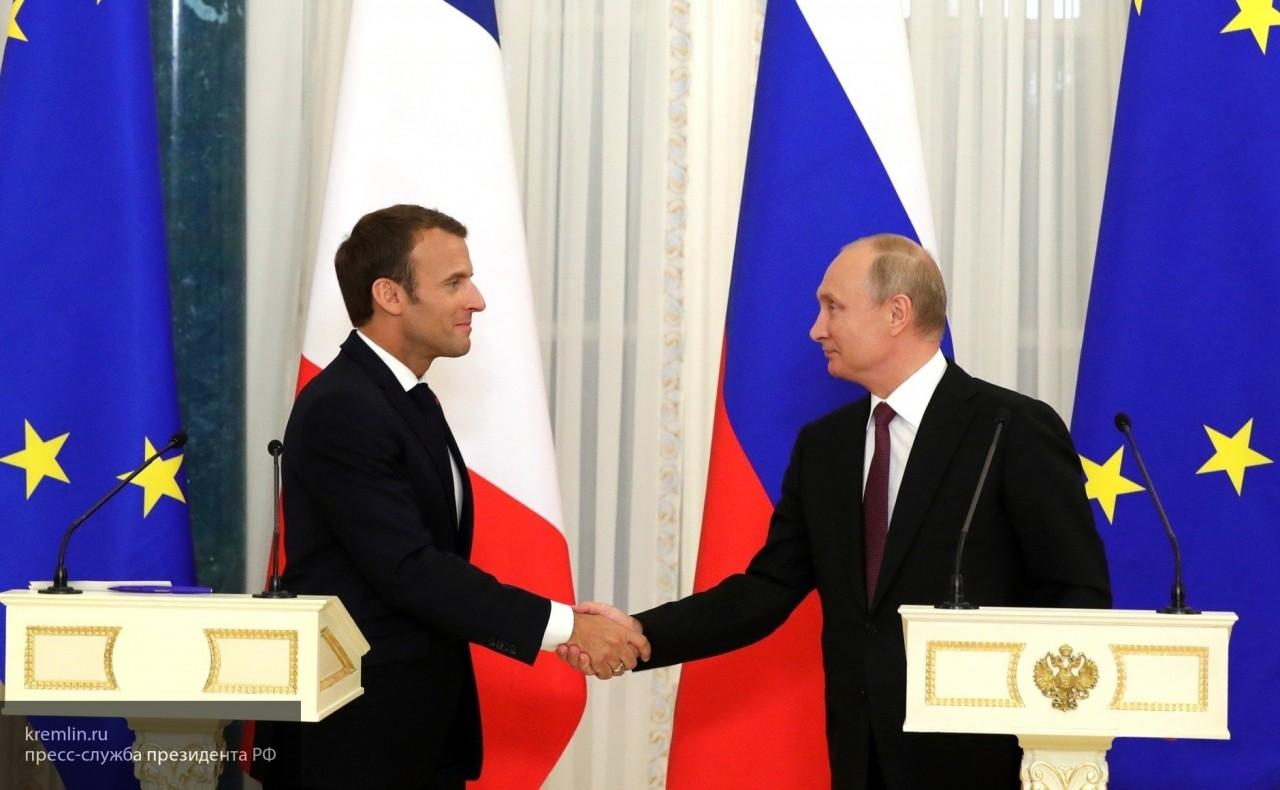 Владимир Путин в Кремле встретился с Эммануэлем Макроном