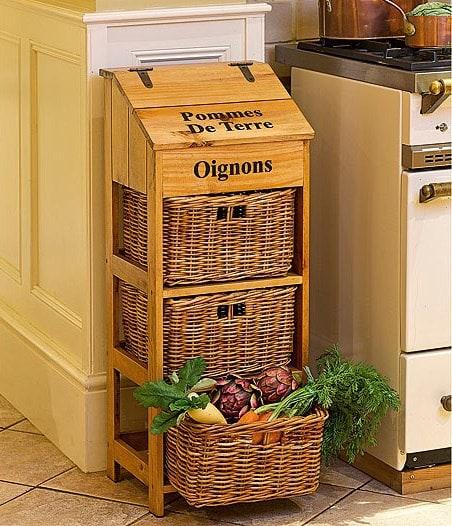 Необычные, но практичные идеи хранения овощей круглый год