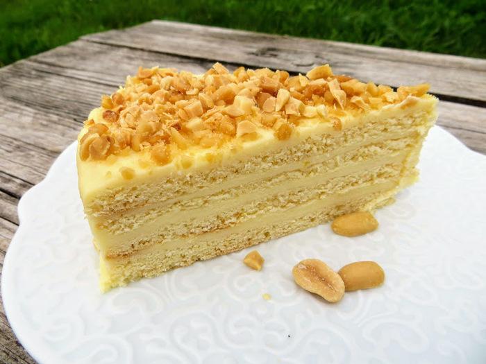 Домашний медовый торт с творожным, заварным кремом