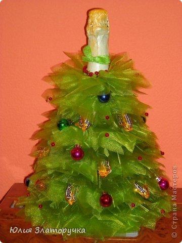 Декор предметов, Свит-дизайн Макет: новогодние елочки и как делать фунтики Бусинки, Клей, Ткань Новый год. Фото 1