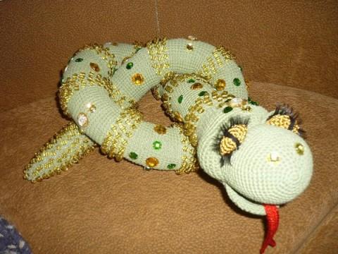 Змейки вязаные-7