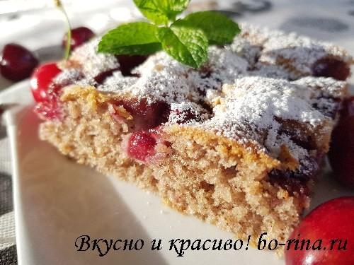 ДЕСЕРТНЫЙ ВИХРЬ. Пирог с вишней и грецким орехом