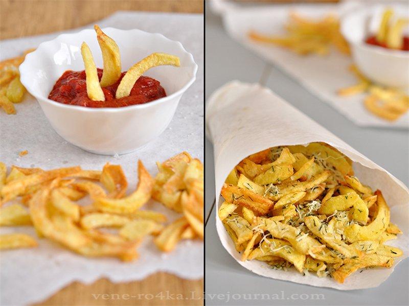 Картофель-фри с чесночно-сырным вкусом