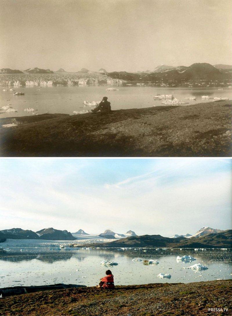 Глобальное потепление: шокирующие фотографии арктических ледников 100 лет назад и сейча
