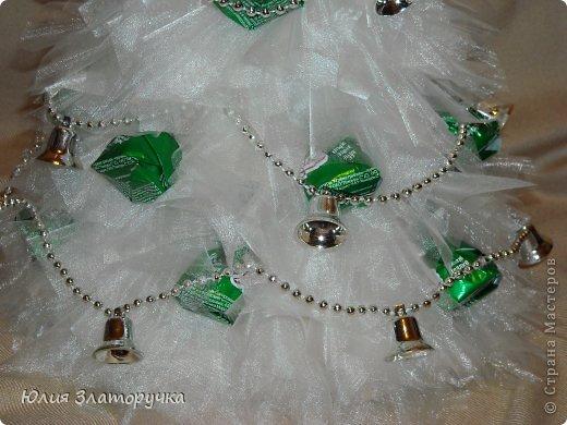 Декор предметов, Свит-дизайн Конструктор: еще одна ёлочка-бутылка. Мини МК Бусинки, Клей, Ткань Новый год. Фото 5