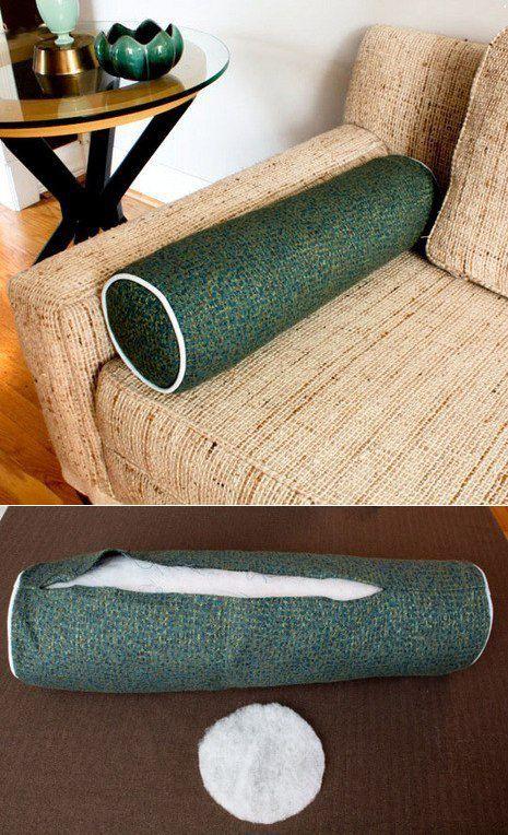 Подушка-валик из старого полотенца (Diy) / Подушки /
