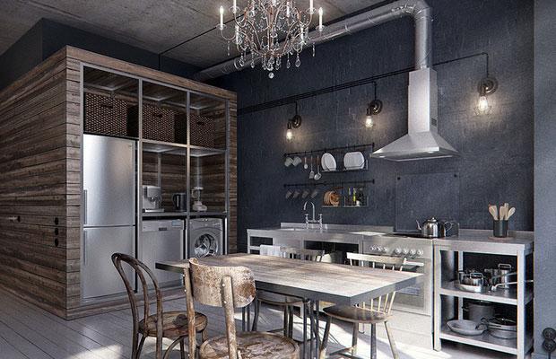 Металл в интерьере квартиры …