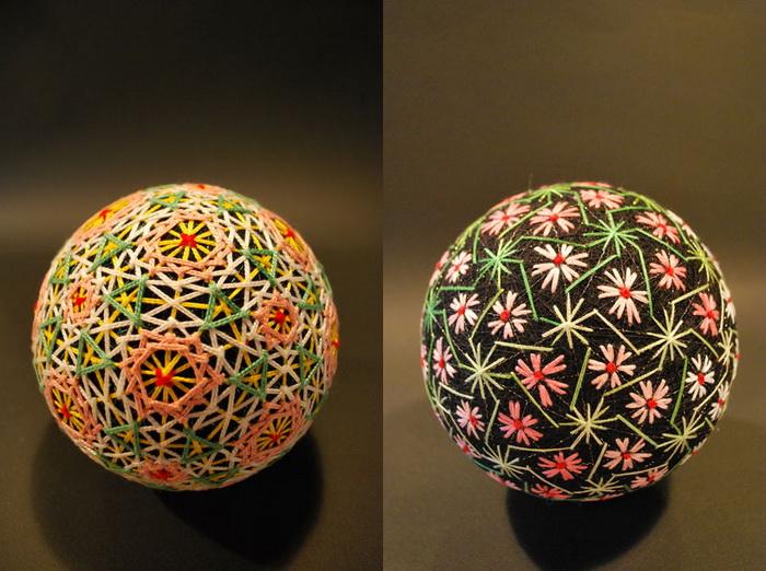 Вышитые шары «темари» из Японии