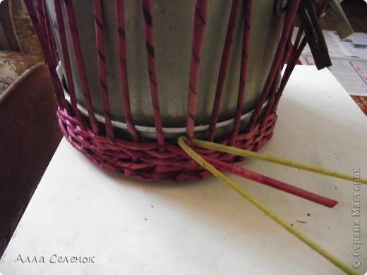 Поделка, изделие Плетение: МК.КАШПО. Бумага газетная. Фото 4