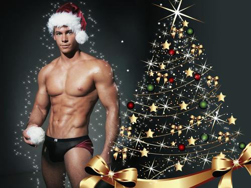 картинка парня сексуального на новый год