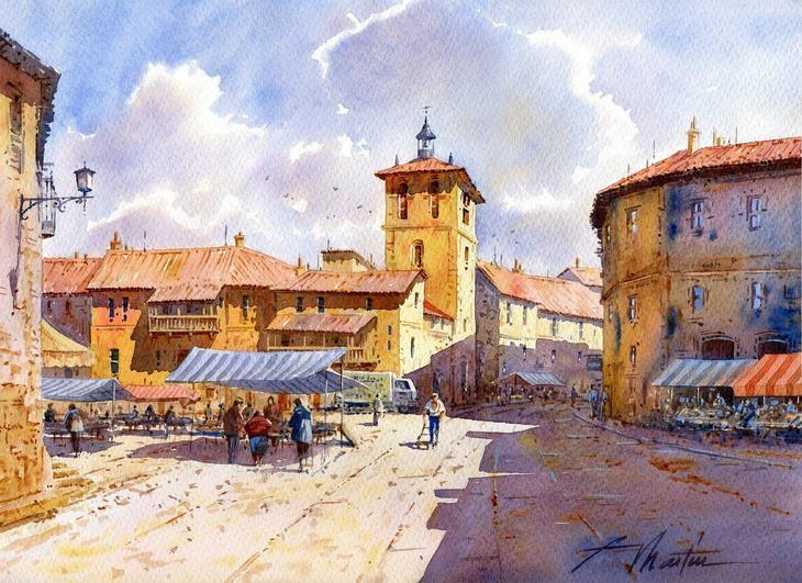 Акварельные пейзажи испанского художника Faustino Martin Gonzalez (Фаустино Мартин Гонсалес)