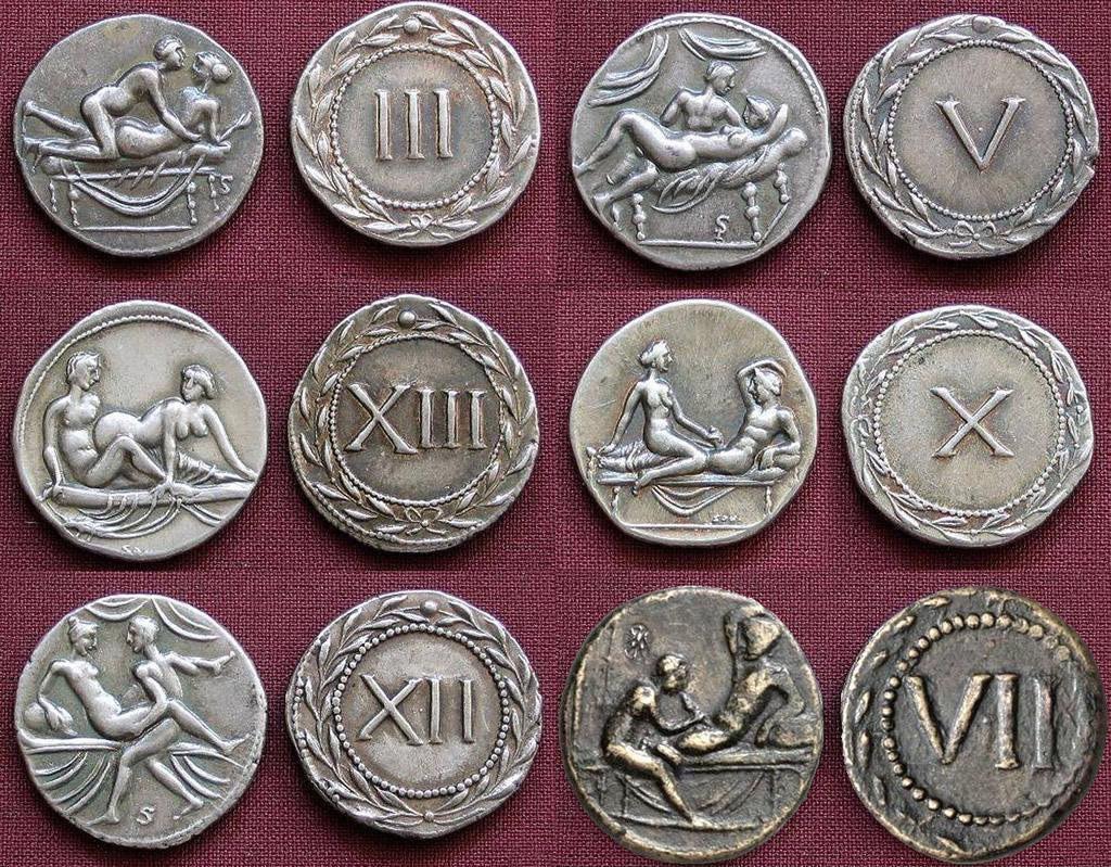 Почему в Древнем Риме использовали бордельные марки?