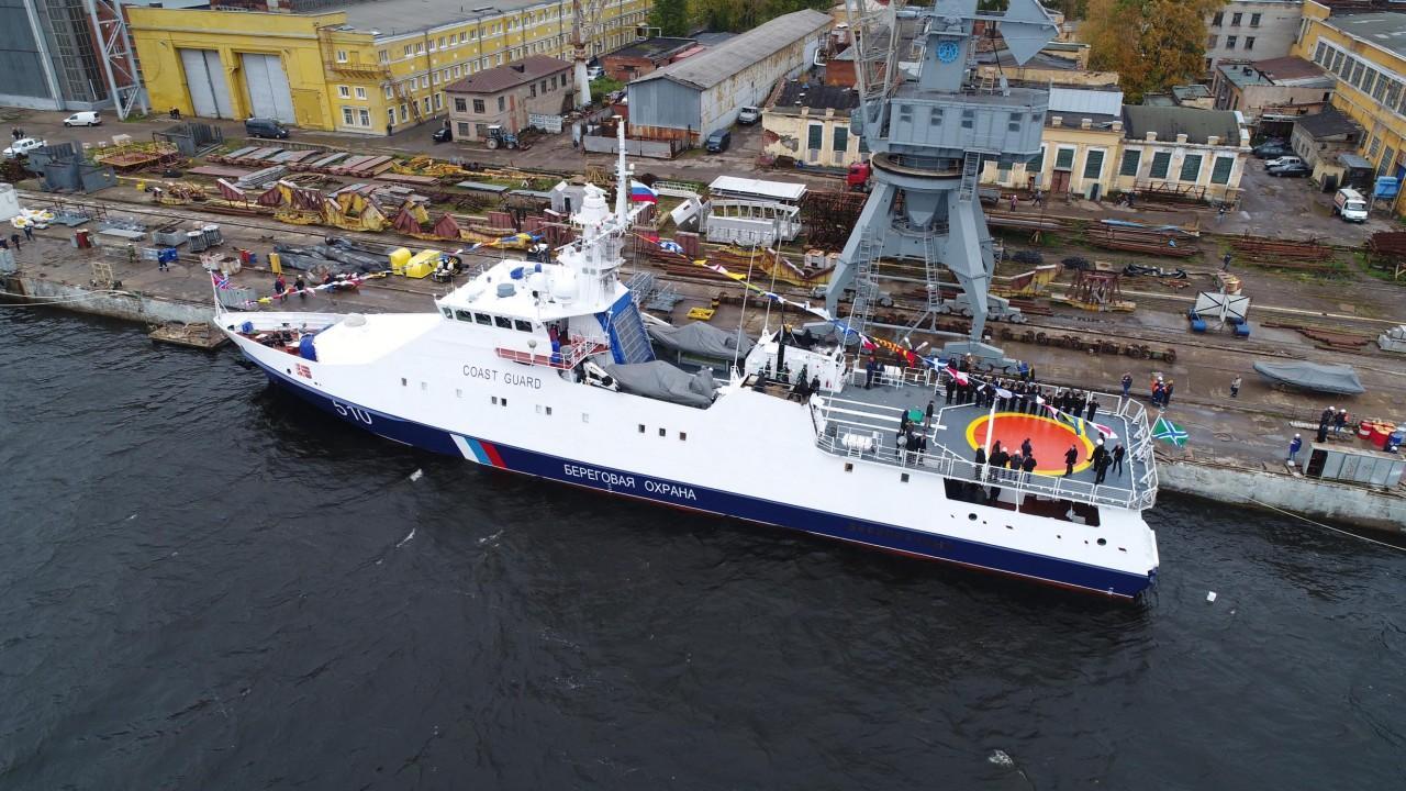 Введен в строй пограничный сторожевой корабль «Безупречный»