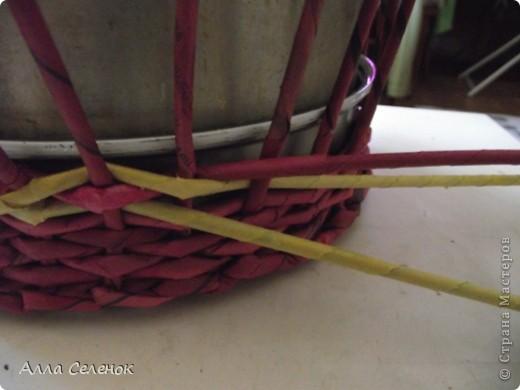 Поделка, изделие Плетение: МК.КАШПО. Бумага газетная. Фото 9
