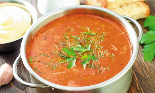 Как приготовить томатный суп с куриным мясом