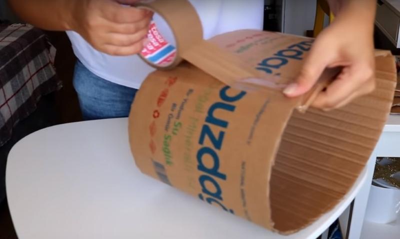 как сделать большую корзину