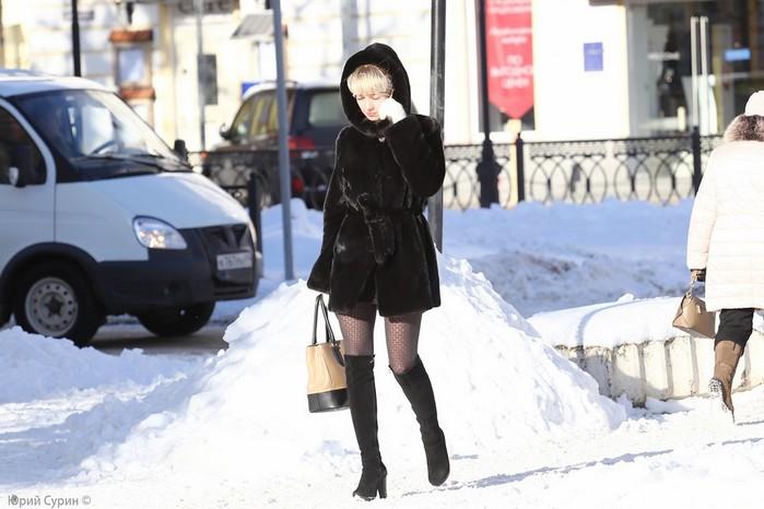 Женщина в зимних условиях