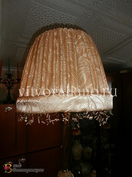 Самодельный абажур для настольной лампы