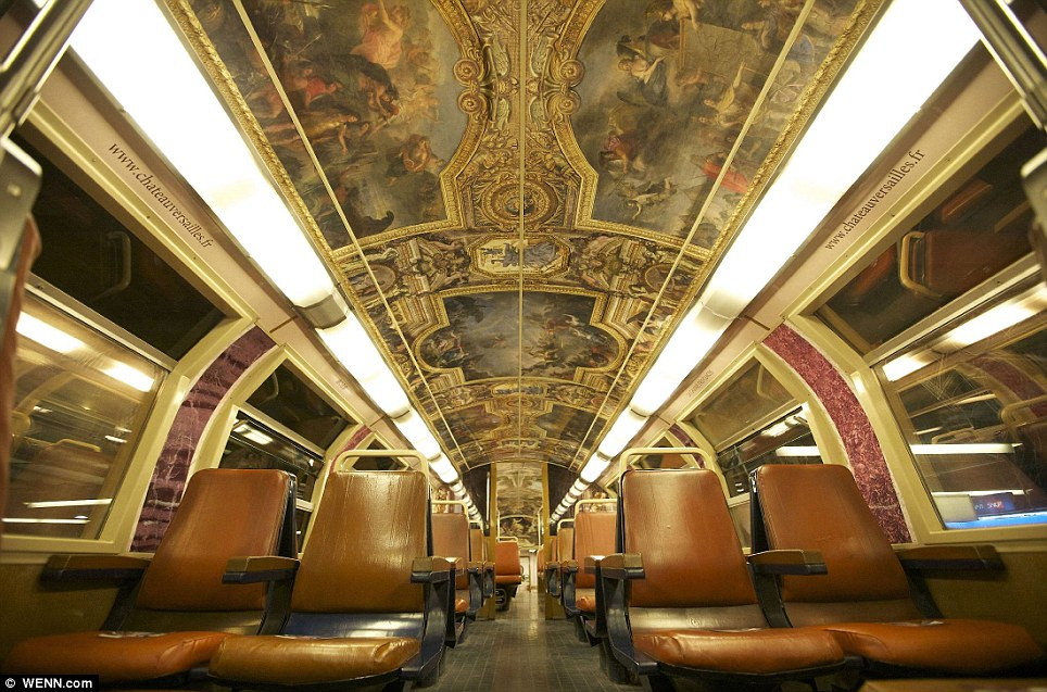 Paris commuter train 1 Версаль в электричке