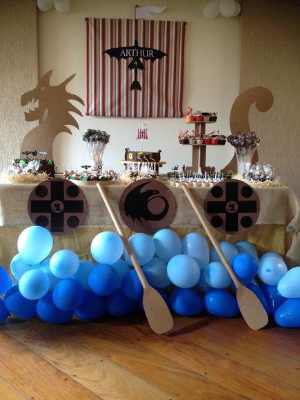 идей для празднование детского праздника Как приручить Дракона