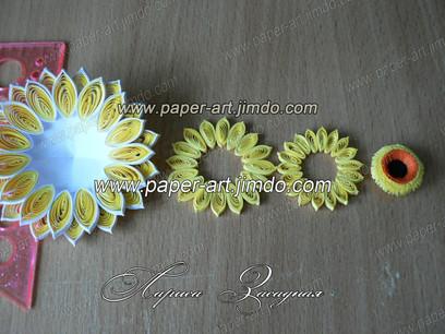 квиллинг картина бумага цветы гербера