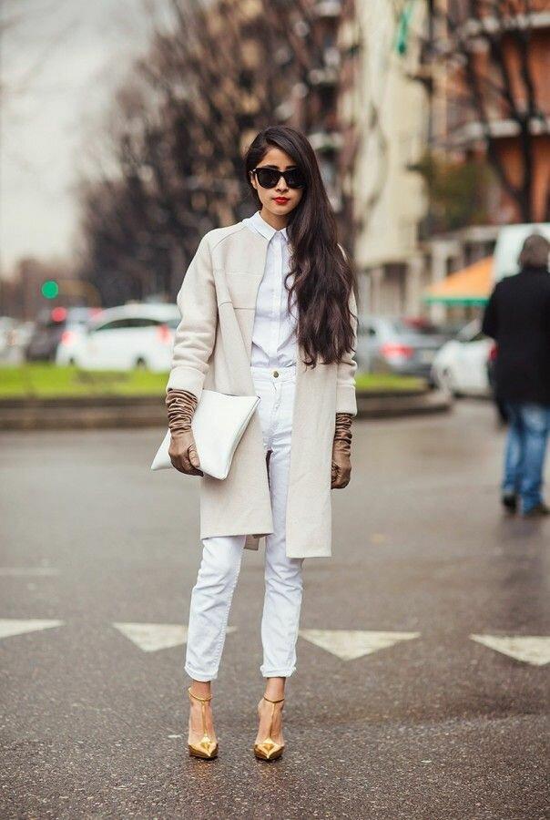 Почему нельзя сочетать белые и молочные вещи? /Фото: i.pinimg.com