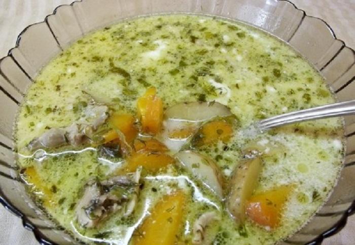 картофельный суп вегетарианский