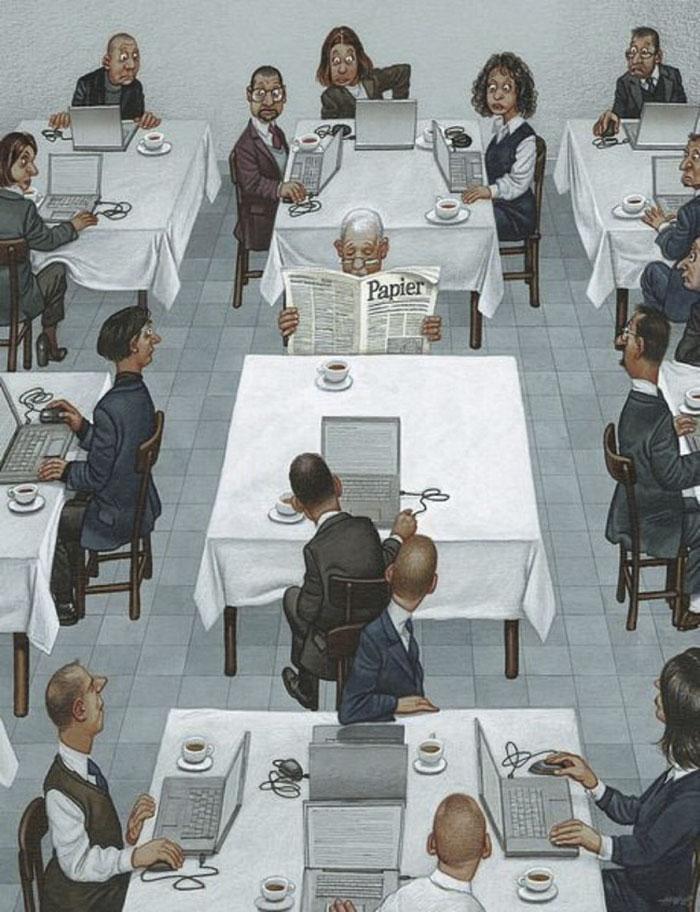 Карикатуры Герхарда Хадерера, в которых каждый узнает современное общество