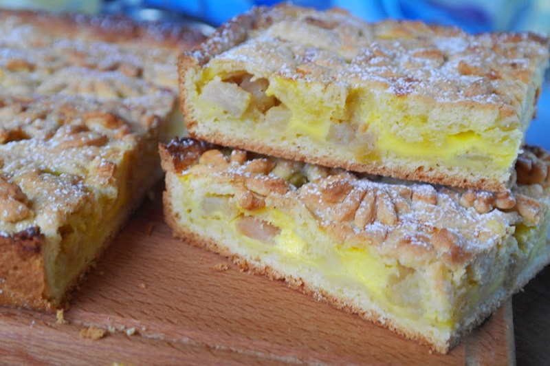 Рецепт песочного яблочного пирога