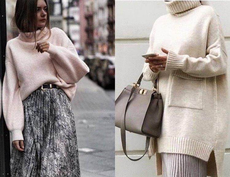 Юбка + свитер. Лучшие сочетания для комфортного и женственного образа на зиму 2019