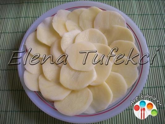 цветы из картофеля с начинкой