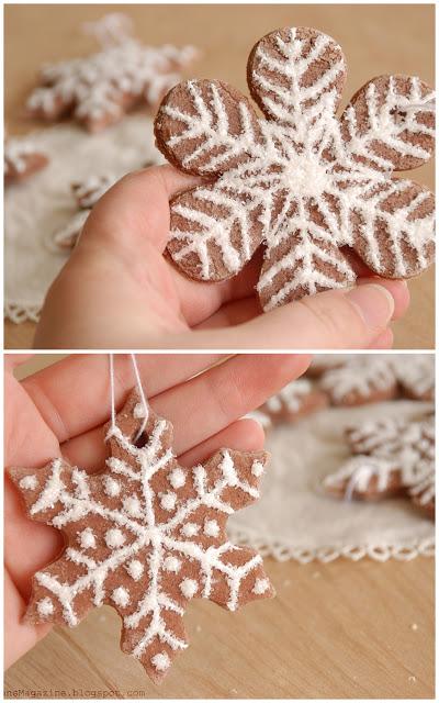 Снежинки из теста своими руками