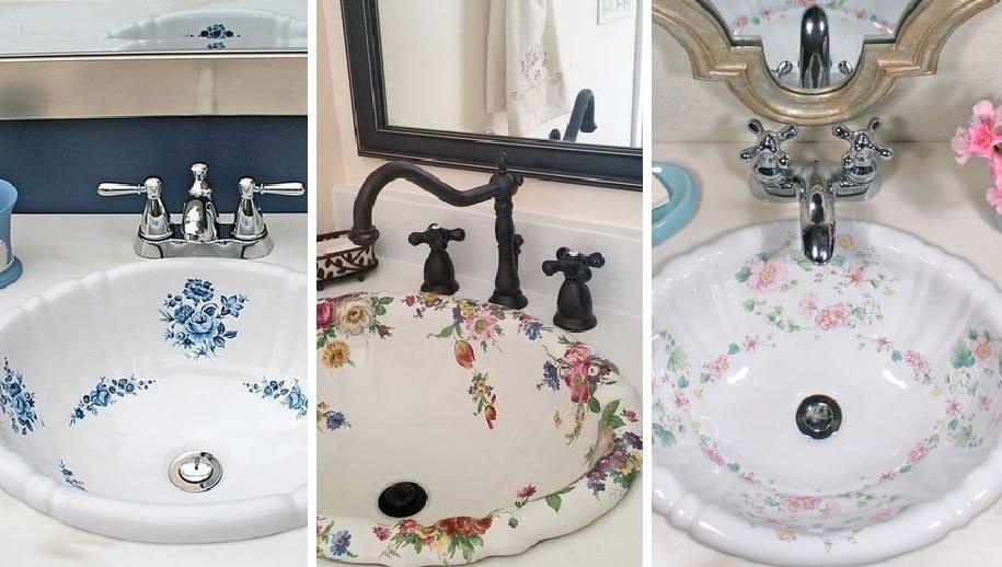 Стильный акцент в вашей квартире: раковины с цветной росписью