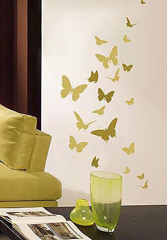 Порхающие бабочки в интерьере. Трафареты для стен и потолка (8) (341x490, 95Kb)