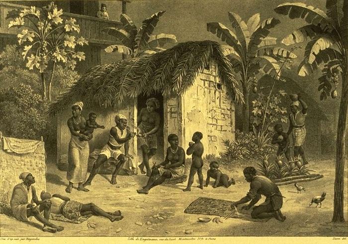 У входа в жилище рабов (Бразилия, 1830-е годы)