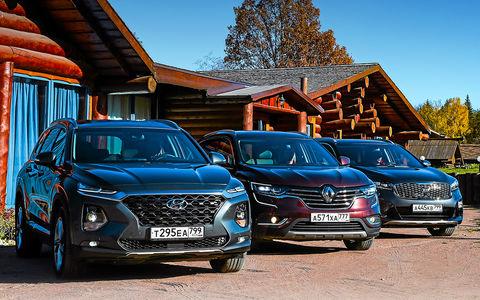 Новый Hyundai Santa Fe против конкурентов: большой тест кроссоверов в Gangnam-стиле