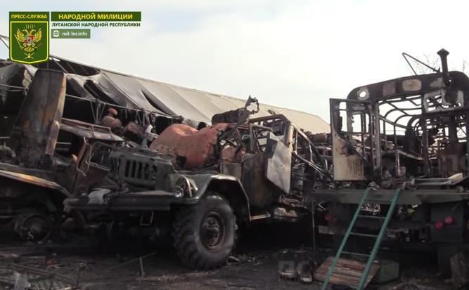"""В штабе «АТО» заявили, что техника для парада в ЛНР """"загорелась сама"""""""