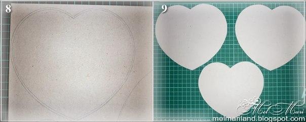 Шкатулка в форме сердца из бобин от скотча