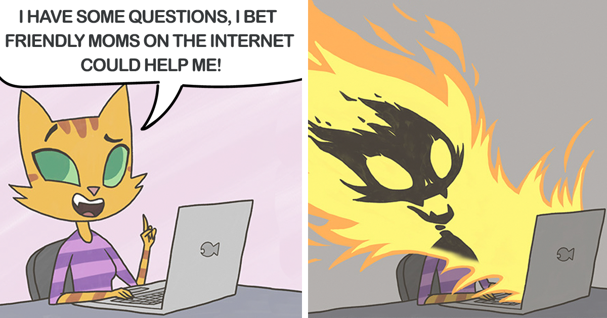 31 Hilariously Relatable Comics About My Life As A Parent With A Feline Twist