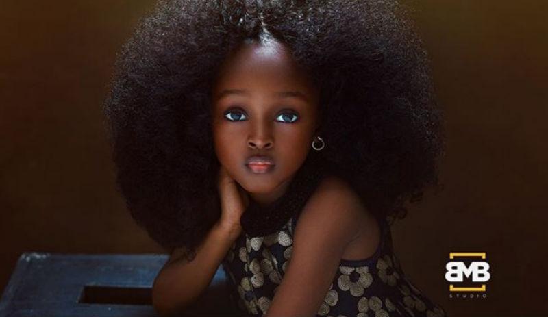 5-летнюю малышку из Нигерии назвали самой красивой девочкой в мире