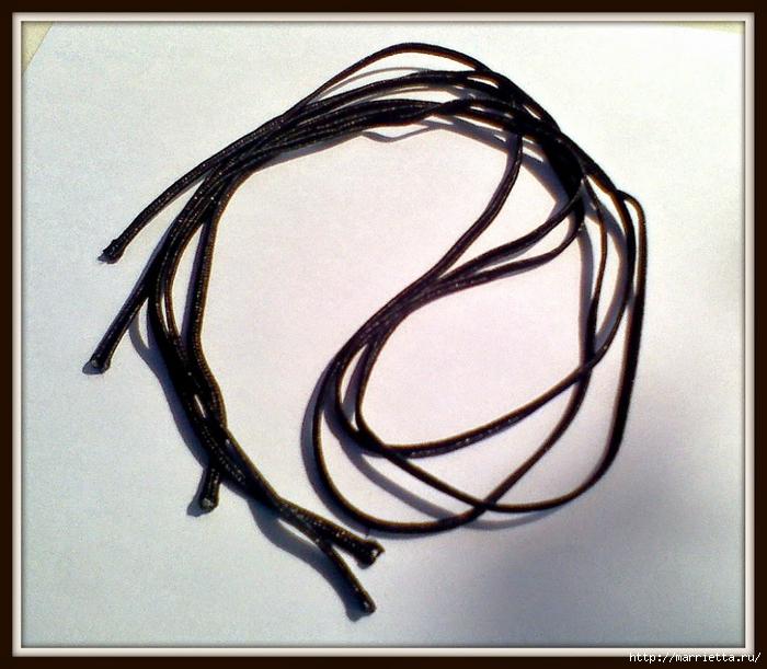 Заколка для волос из сутажа и бусин. Мастер-класс (5) (700x611, 332Kb)