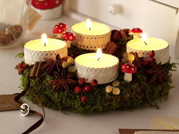 Как украсить свечку на новый год своими