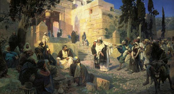 «Христос и грешница» Василия Поленова