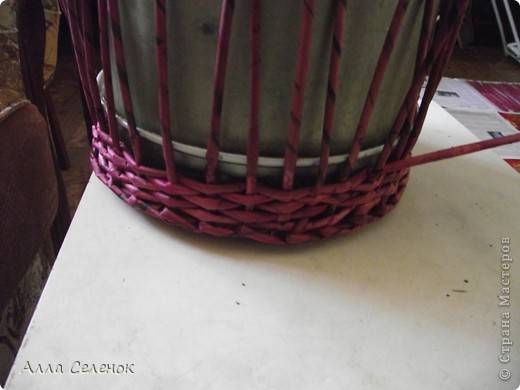 Поделка, изделие Плетение: МК.КАШПО. Бумага газетная. Фото 3