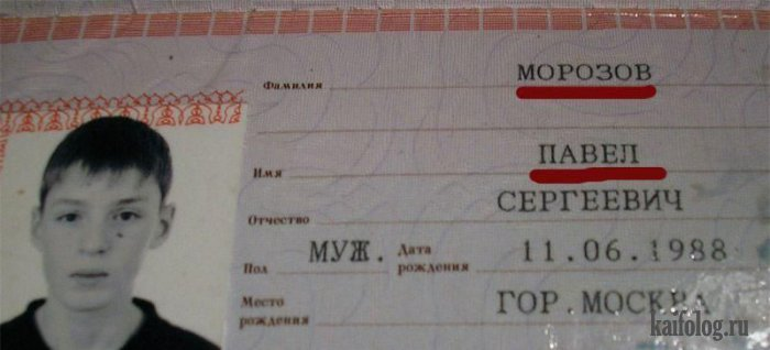 Смешные паспорта и документы. Часть - 2 (40 фото)